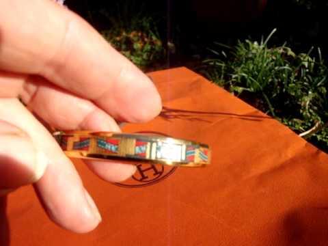 Hermes Enamel bracelet PM GHW Thingseyelike