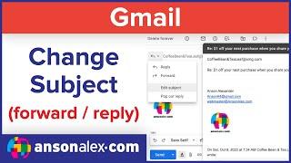 #10 [클라우드 오피스] 지메일 활용법 강좌 (영문) - Change Email Subject on Reply or Forward