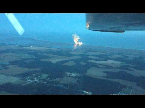 Antares explosion seen from a Cessna flying at 3000ft
