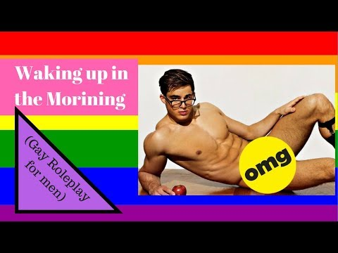 ASMR - Waking up in the morning (Gay Role Play for men) (видео)