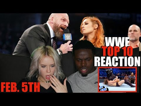 Top 10 SmackDown Live moments: WWE Top 10, February 5, 2019 REACTION