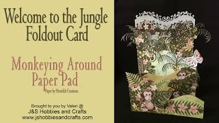 """Welcome to the Jungle! Are you ready for an adventure? Grab your safari hat and trek through exotic jungles taking in the lively and entertaining antics of the new Monkeying Around Collection by Heartfelt Creations.  Fill your tropical themed cards with banana thieving high jinx, coconut and banana accents and cheesy chimp grins! This newest collection is sure to have you """"going bananas"""" with excitement! Products for this project can be purchased at J&S Hobbies and Crafts. www.jshobbiesandcrafts.comProducts used:• Heartfelt Creations Monkeying Around Paper Padhttps://jshobbiesandcrafts.com/?product=heartfelt-creations-monkeying-around-paper-collection-hcdp1-276• Heartfelt Creations Monkeying Around Die & Stamphttps://jshobbiesandcrafts.com/?product=heartfelt-creations-monkeying-around-cling-stamp-set-hcpc-3778https://jshobbiesandcrafts.com/?product=heartfelt-creations-monkeying-around-die-hcd1-7133• Heartfelt Creations Palm Trees and Monkeyshttps://jshobbiesandcrafts.com/?product=heartfelt-creations-palm-trees-monkeys-cling-stamp-set-hcpc-3777https://jshobbiesandcrafts.com/?product=heartfelt-creations-palm-trees-monkeys-die-hcd1-7132• Martha Stewart Butterfly Paper Punchhttps://jshobbiesandcrafts.com/?product=martha-stewart-double-craft-punch-monarch-butterfly• Heartfelt Creations Classic Border Basics Diehttps://jshobbiesandcrafts.com/?product=heartfelt-creations-classic-border-basics-die-hcd1-7119• Heartfelt Creations Fleur Border Basics Diehttps://jshobbiesandcrafts.com/?product=heartfelt-creations-delicate-border-basics-die-hcd1-7118• BrushStix https://jshobbiesandcrafts.com/?product=imagine-crafts-brushstix-brush-assortment-4-3pkg• Wink of Stellahttps://jshobbiesandcrafts.com/?product=wink-stella-clear-shimmer-no-mess• ColorBox Pigmentshttps://jshobbiesandcrafts.com/?product_cat=colorbox-ink-pads• Memento Pigmentshttps://jshobbiesandcrafts.com/?product_cat=memento-ink-pads• Daubers https://jshobbiesandcrafts.com/?product_cat=daubers• Dove Blenderhttps://jshobbi"""