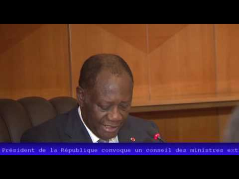 COTE D'IVOIRE : déclaration du gouvernement mettant fin aux fonctions des généraux de l'armée