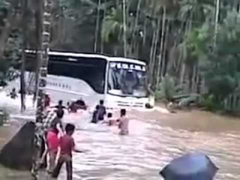 Kerala Bus - This bus can run on land at summer and it can also run on water at rainy season.