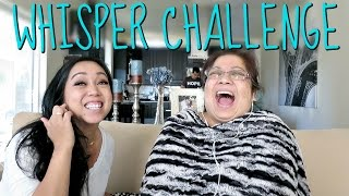 THE WHISPER CHALLENGE with MAMA! - June 12, 2016 -  ItsJudysLife Vlogs