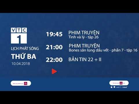 Lịch phát sóng VTC1 ngày 10/4/2018 | VTC1 - Thời lượng: 116 giây.