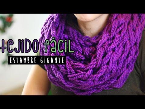 ¡BUFANDA FÁCIL EN 30 MIN! Cómo tejer con las manos ✄ Craftingeek