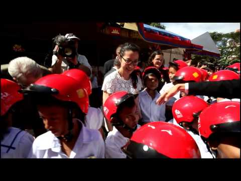 Cambodia Helmet Michelle Yeoh AIP Foundation