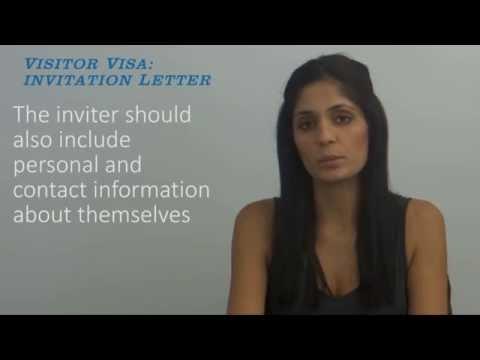 Visitor Visa Invitation Letter Video