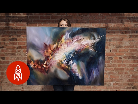 The Artist Who Paints What She Hears (видео)