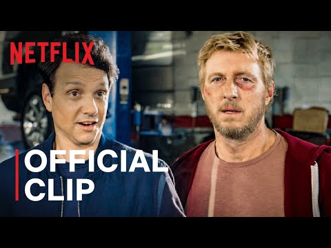 Cobra Kai: Season 3 | Ralph Macchio & William Zabka Team Up Scene | Netflix