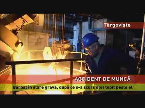 Muncitor în stare gravă, după ce s-a scurs oţel topit peste el