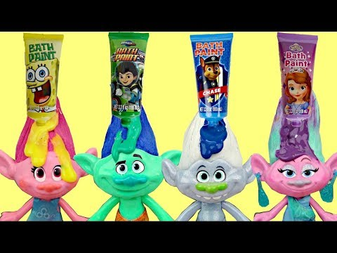 Dreamworks TROLLS Bath Time Paint With Orbeez Magic, Bubbles, Poppy & Branch