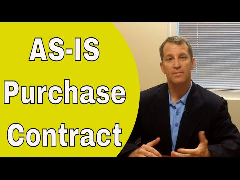 AS-IS Purchase Contract Agreement - Clarifying the AS-IS Contract for Florida
