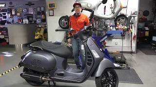 9. Vespa GTS Carbon Fiber Super with Performance Motor