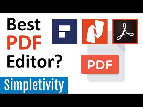Which PDF Editor is Best? (PDFelement | Nitro | Acrobat)