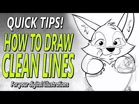 HOW TO DRAW CLEAN LINES  With Your Digital Art - QUICK TIP