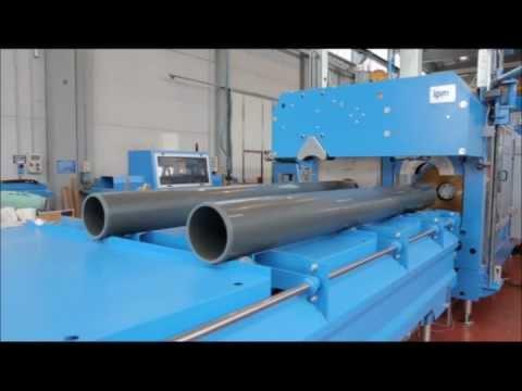 פי.וי.סי - PVC PIPES EXTRUSION LINE www.amut.it FEATURES: BA125/28D -- Twin screw extruder 110kw motor Dosing unit and loading unit for vergin material Dosing unit and ...