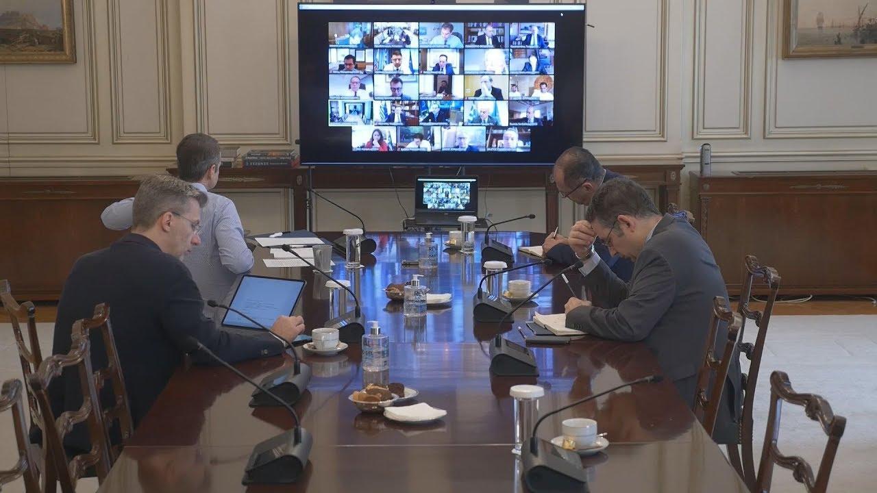Tηλεδιάσκεψη του υπουργικού συμβουλίου για τα μέτρα κατά του κορονοϊού