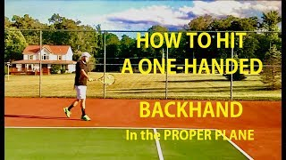 In this video, Hammer It Tennis Creator Daniel Dodson, shows you how to avoid one of the biggest mistakes of the one-handed backhand and how to keep your backhand and shots on plane and at the target!