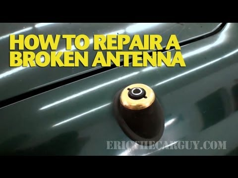 car repair - This video shows one way you can deal with a broken antenna. Some of these older models had this type of antenna and they either got stuck in a given positio...