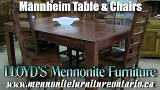 Mennonite Pine Mannheim Table and Chairs