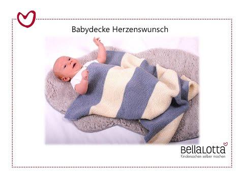 Babydecke kraus rechts stricken – mit BellaLotta