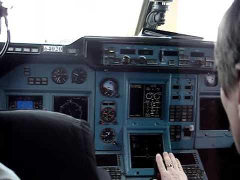Посадка самолета вид из кабины пилота