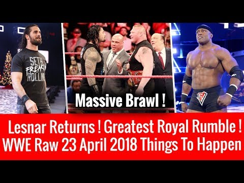 WWE Raw 4/23/2018 Highlights Updates ! Brock Lesnar Returns ! WWE Raw 23 April 2018 !