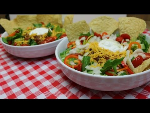 Chili Taco Salad~Taco Salad Recipe~Budget Friendly Recipes~Bulk Cooking~Mexican Food~Noreen's Kitc