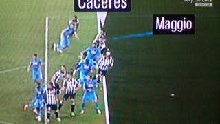 Napoli Juventus 1 3 Boban: gol Caceres  e' fuorigioco Benitez polemico: ci puo stare con la Juve