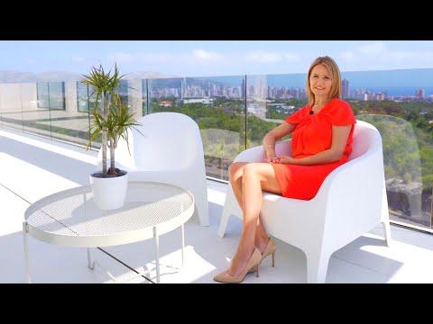2980000€/Шикарная вилла в Испании с панорамным видом на море и огни Бенидорма/Элитная недвижимость