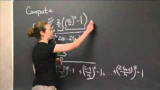 Series Calculation Using A Riemann Sum | MIT 18.01SC Single Variable Calculus, Fall 2010