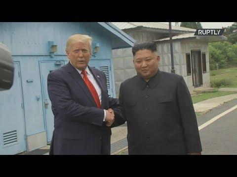 Στην Αποστρατιωτικοποιημένη Ζώνη ανάμεσα στη Νότια και τη Βόρεια Κορέα ο Τραμπ
