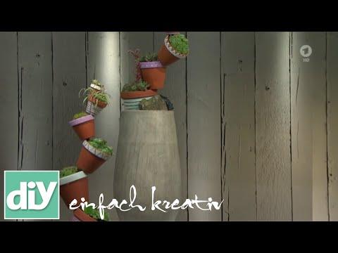 Tontopfpyramide für Balkon und Garten | DIY einfach kreativ