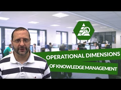 What are the OPERATIONAL Dimensions of Knowledge Management – Marketing