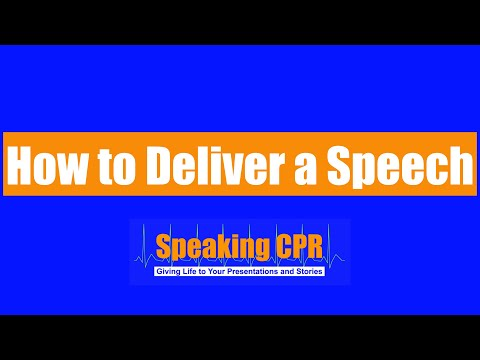 How to Deliver a Speech - Play This Improv Game to Improve Your Presence