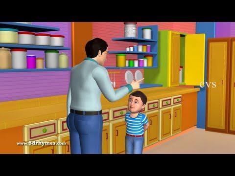 Johny Johny Yes Papa Poem - 3D Animation English Nursery rhyme for children with lyrics