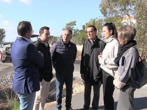 Visita del Presidente de la Diputación a las obras de reparación del firme C.P. HU -3400, N-431 Islantilla, La Redondela