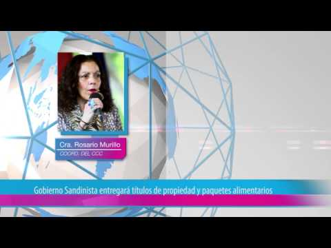 Gobierno Sandinista entregará títulos de propiedad y paquetes alimentarios