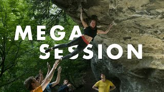 Mega Climbing Session with Frances and the Crew   V13 - V15 by Andrew MacFarlane