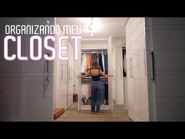 ORGANIZANDO MEU CLOSET! Vlog - Luisa Accorsi