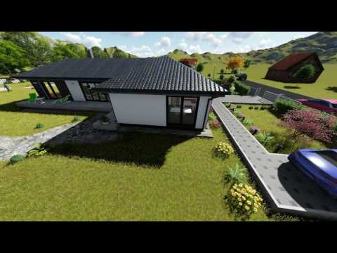 Family house with garden 3D model
