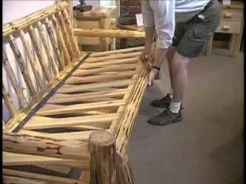 Misty mountain furniture log sofa futon