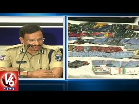 Massive Fake Credit Card Racket Busted in Hyderabad | V6 News