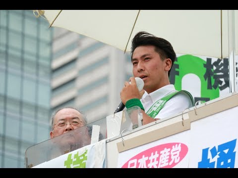 伊藤ひろたか市長候補の演説 カジノはいらない!中学校給食実現!