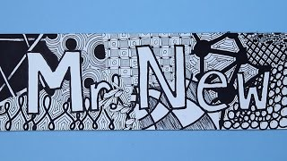 Learn something new, with Mr. New! -- Zentangle How-To: https://youtu.be/tXaLQzyjA2U More Zentangle Pattern Ideas: https://youtu.be/MDO2T9sSeW0 -- Step by st...
