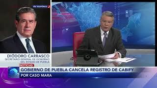 Entrevista con Diódoro Carrasco secretario general del gobierno de Puebla