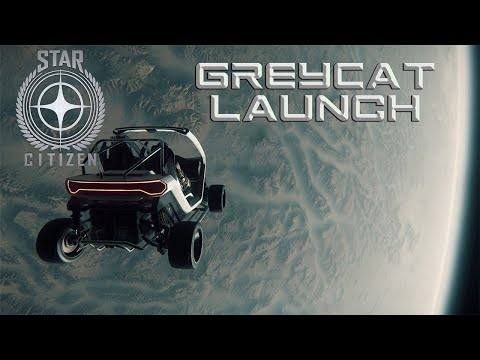 Falling from space in a GreyCat - STAR CITIZEN
