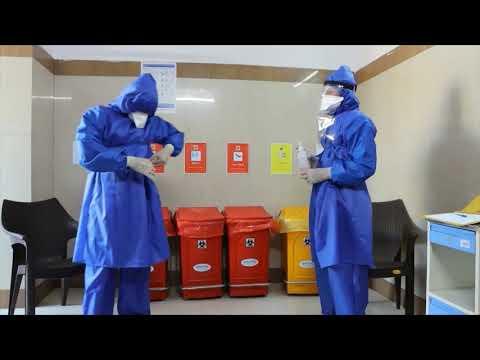 Doffing of PPE, Hindi AIIMS Jodhpur